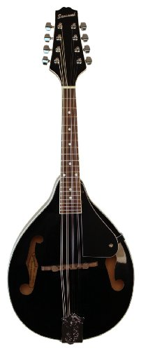 Savannah SA-100-BK A-Model Mandolin, Black