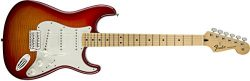 Fender Standard Stratocaster Electric Guitar – Flamed Maple Top – Maple Fingerboard, ...