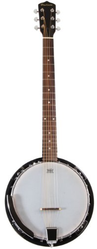 6 String Banjo Guitar with Closed Back Resonator and 24 Brackets