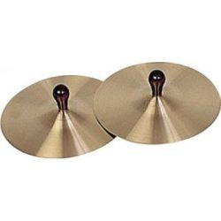Rhythm Band Brass Cymbals with Knobs 7″ Pair With Handles