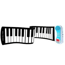 Flexible Roll Up Folding Portable Piano – 49 Keys – BIG Piano Finger Edition