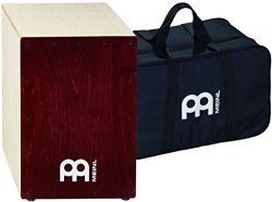 Meinl Percussion BC1NTWR Baltic Birch Wood Cafe Snare Cajon with FREE Bag, Wine Red Finish