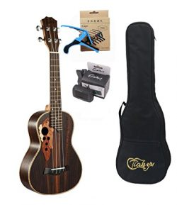 23-inch Hawaii ukulele rosewood professional concert Ukulele send tuner trim folder thick piano bag