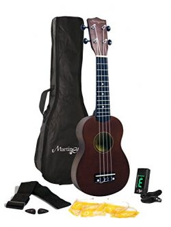 Martin Smith 312 Ukulele Starter Kit – Includes lessons, tuner, strap, spare strings and gig bag ...