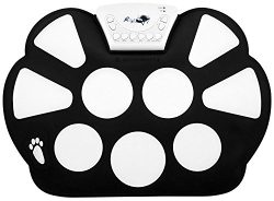 Top-Longer Portable Electronic Drum Pad Kit with Drum Sticks and Sustain Pedal for Children &#82 ...