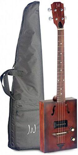 James Neligan CASK-HOGSHEAD Cask Series Acoustic-Electric Cigar Box Guitar