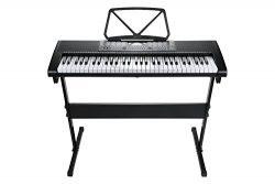 ELE-LIFE EL-57 61-Key Digital Portable Keyboard Piano Electronic With Stand, Microphone, Headpho ...
