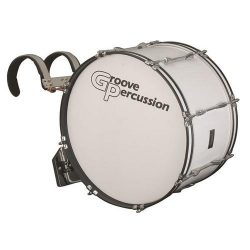 Groove Percussion MBD1222W 12×22 Marching Bass Drum with Vest Carrier
