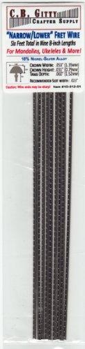 Mandolin/Ukelele/Dulcimer Fret Wire – Narrow/Lower Nickel Silver – Six Feet