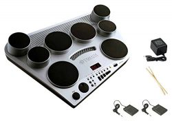 Yamaha DD65 Electronic Drum Pad Premium Package with Headphones, Power Supply, Drum Sticks, and  ...