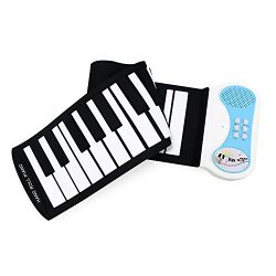 Eoncore 37 Keys Roll up Portable Keyboard Piano for Kids Electronic Music Keyboard Piano with Lo ...