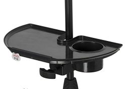 Gator Frameworks Microphone Stand Accessory Tray with Drink Holder and Guitar Pick Tab (GFW-MIC- ...