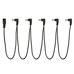 Tom'sline Engineering 5 Way Right Angle Pedal Power Daisy Chain ADC-M5 Cable for Guitars a ...