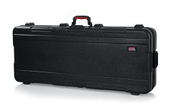 Gator Cases Molded Flight Case for 61-Note Keyboards with TSA Approved Locking Latches and Reces ...