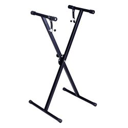 "Costzon New Black Keyboard Piano ""X"" Stand Electric Organ Rack Metal Height Adjustable"