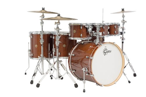 Gretsch (CM1E826PWG) 2014 Catalina Maple 7-Piece Rock Shell Pack and 22 Inch Kick with Free Addi ...