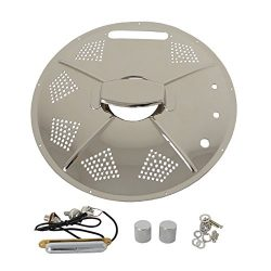 Single Cone Resonator Guitar Coverplate with Pick-up