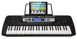 RockJam 54-Key Portable Electronic Keyboard with Interactive LCD Screen & Includes Piano Mae ...