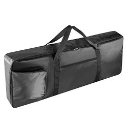 Neewer 76-Key Keyboard Bag with Extra Pockets for Electric Piano, Made of Durable and Waterproof ...