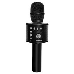BONAOK Wireless Bluetooth Karaoke Microphone,3-in-1 Handheld Portable Speaker Machine for Androi ...