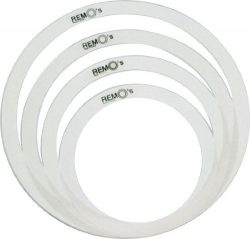 Remo RemOs Tone Control Rings Pack – 10″, 12″, 14″, 16″
