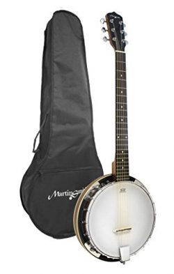 Martin Smith BJ-003 6 String Guitar Banjo Including Padded Gig Bag