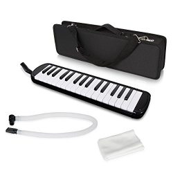 Lectronify Black Professional Harmonica / Melody-Horn / Blow-Organ / Pianica / Keyboard Harmonic ...