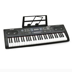 Plixio 61 Key Electronic Keyboard Piano with LED Display, Stereo & USB Input- Portable Music ...
