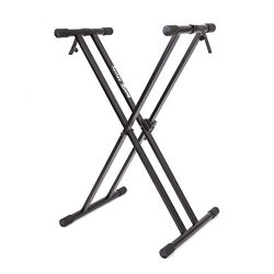RockJam Xfinity Heavy-Duty, Double-X, Pre-Assembled, Infinitely Adjustable Piano Keyboard Stand  ...
