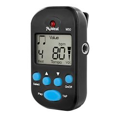 JSH Portable Mini Multi-functional Clip-On LCD Digital Beat Tempo Mini Metronome With Battery, S ...