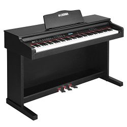 LAGRIMA 88 Key Digital Grand Piano Console Keyboard Piano for Beginner/Adults,with Stand+Adapter ...