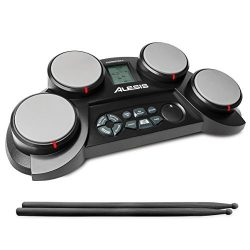 Alesis CompactKit 4 | Portable 4-Pad Tabletop Electronic Drum Kit with Drumsticks & Built-In ...