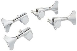 Kmise 1set of 2R2L Guitar Bass Tuner Machine Heads Tuning Pegs Chrome