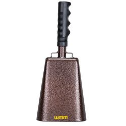 10 Inch Steel Cowbell with Handle Cheering Bell for Sports Events Large Solid School Bells & ...