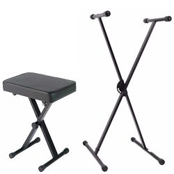Yamaha Portable X Style Keyboard Bench with Single Braced Adjustable X-Style Keyboard Stand