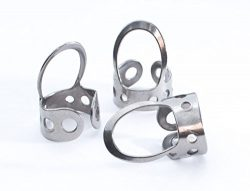 3 x Stainless Steel, Open Design, Metal Finger Picks for Guitar, Banjo, Dobro, etc. Fingerstyle  ...