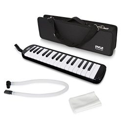 Pyle Black Professional Keyboard Harmonica Instrument – Also Called Mouth Organ, Wind Pian ...