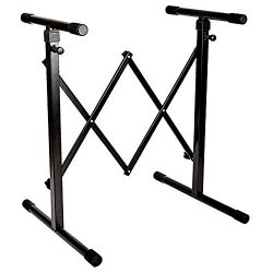 Knox Universal Keyboard Stand -Pedal Friendly – Accordion Style Adjustable Width – L ...