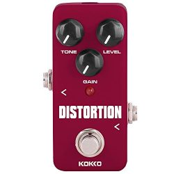 Distortion Guitar Pedal, Mini Effect Pedal Processor of Classic Distortion Tone Effect Universal ...