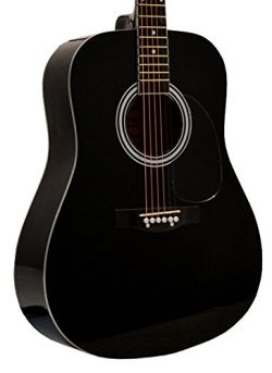 41″ Inch Full Size Black Handcrafted Steel String Dreadnought Acoustic Guitar & Direct ...