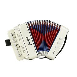 Mugig Accordion Kids Toy Accordion, Sound Toys Ten Keys Solo and Ensemble Instrument, Musical In ...