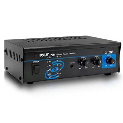 Pyle 2×120 Watt Home Audio Speaker Power Amplifier – Portable Dual Channel Surround S ...