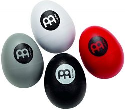 Meinl Percussion ES-SET Cajon Player's Four Piece Multi-Colored Egg Shaker Set with Differ ...