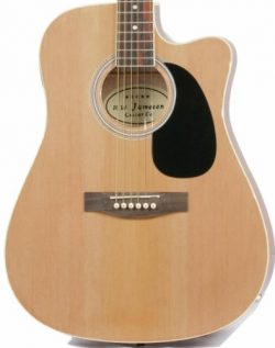Jameson Guitars Full Size Thinline Acoustic Electric Guitar with Free Gig Bag Case & Picks N ...