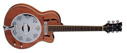 Dean Resonator Cutaway/Electric Natural Mahogany Guitar