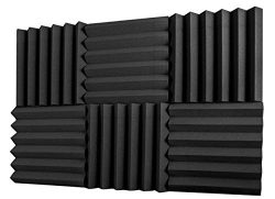 A2S Protection 6 Pack Acoustic Foam Panels 2″ X 12″ X 12″ Soundproofing Studio ...