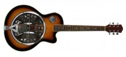 RESONATOR GUITAR Acoustic-Electric SEPELE SPRUCE Single Cutaway Steel Pan Blues