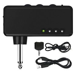 Mini Electric Guitar Amplifier, METALBAY Portable Headphone Amp Amplifier with Rechargeable Batt ...