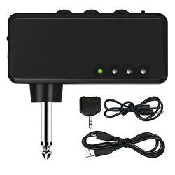 Mini Electric Guitar Amplifier, METALBAY Portable Headphone Amp Amplifier with Rechargeable Batt ...