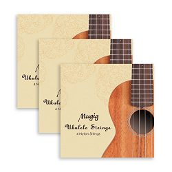 Mugig Ukulele Strings in Nylon for Sprano Concert Ukulele Package 3 sets for 12pcs
